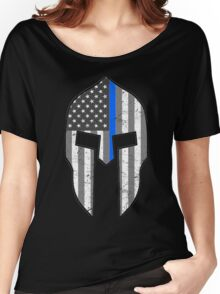 American Spartan Thin Blue Line  Women's Relaxed Fit T-Shirt