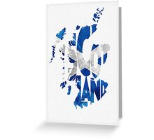 Scotland Typographic Map Flag Greeting Card