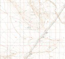 USGS TOPO Map California CA Bitter Spring 100359 1996 24000 geo Sticker