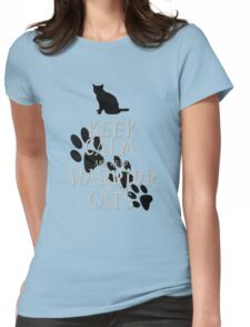 keep calm warrior cats Womens Fitted T-Shirt