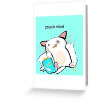 snack time Greeting Card