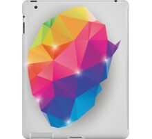 Abstract geometric human brain, triangles, creativity iPad Case/Skin