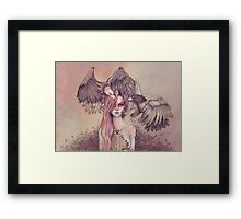 Eagle princess Framed Print