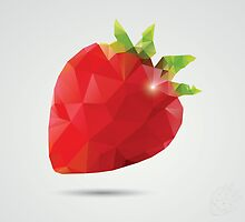 Geometric strawberry by BlueLela
