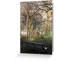 abandoned and overgrown garden Greeting Card