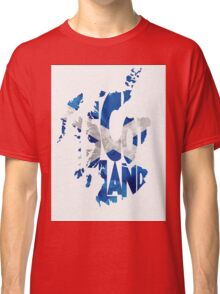 Scotland Typographic Map Flag Classic T-Shirt