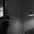 room reflected (in very large tv screen). by geof