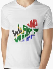 South Africa Typographic Map Flag T-Shirt