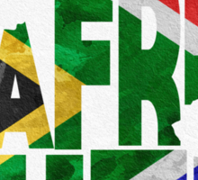 South Africa Typographic Map Flag Sticker
