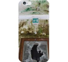 Old window with broken glass iPhone Case/Skin