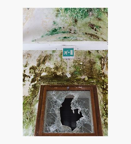 Old window with broken glass Photographic Print