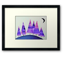 Small Wood, Lilac and Pink Framed Print