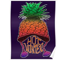 Hot Pineapple Winter Poster