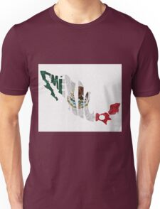 Mexico Typographic Map Flag Unisex T-Shirt