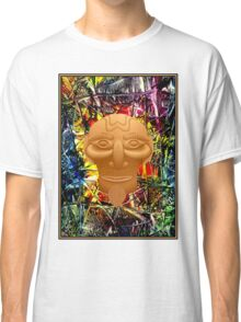 AFRICAN JUNGLE; Abstract Witch Doctor Print Classic T-Shirt