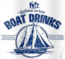 Boat Drinks Poster
