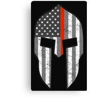 American Spartan Thin Red Line  Canvas Print