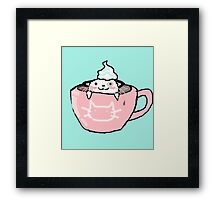 kitten in your coffee Framed Print