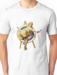 Pin Up Girl Archery Vintage Dictionary Art Unisex T-Shirt