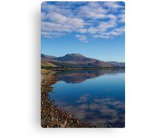 Loch Carron from the village of Lochcarron Canvas Print