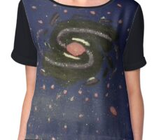 Outer Space Black Hole Chiffon Top