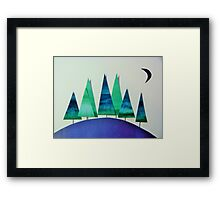 Small Wood, Green and Blue Framed Print