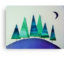 Small Wood, Green and Blue Canvas Print