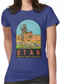 Utah UT State Vintage Travel Decal Womens Fitted T-Shirt