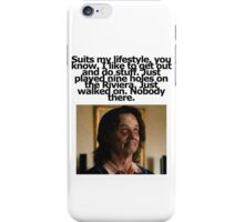 Bill Murray - Zombieland - Golf Quote iPhone Case/Skin