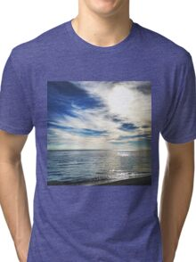 Clouds over the Lake Michigan Shoreline Tri-blend T-Shirt