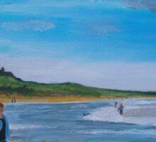 Bamburgh Castle & Beach Sticker