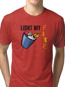 Light My Fire The Doors Rock Music Quotes Tri-blend T-Shirt