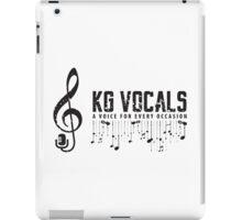 KG Vocals Logo iPad Case/Skin
