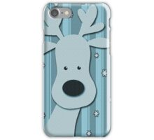 Blue elegant reindeer iPhone Case/Skin