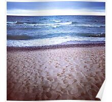 Stormy Lake Superior Shore Poster
