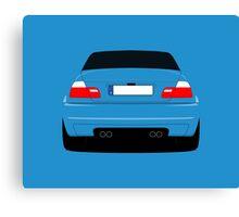 E46 rear-end Canvas Print