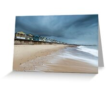 The Waves Coming in at Southwold Pier Greeting Card