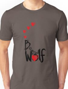 Big Bad Wolf Howling Hearts Unisex T-Shirt