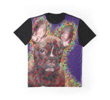 French Bulldog Colorful Pop Art Graphic T-Shirt