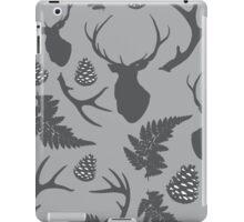 Forest pattern with deer, antler, pine cones and fern iPad Case/Skin