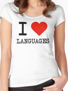 I Love Languages Women's Fitted Scoop T-Shirt