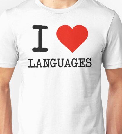 I Love Languages Unisex T-Shirt