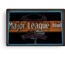 Major League Blvd. Canvas Print