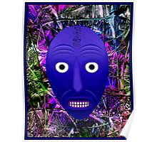AFRICAN 3D ABSTRACT; Witch Doctor Mask Print Poster