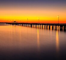 Pier Before Dawn by Silken Photography