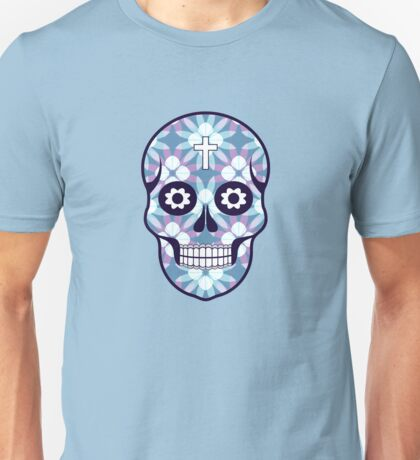 Pattern with skulls. Day of the Dead. Halloween Unisex T-Shirt