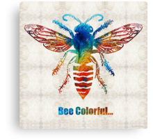 Bee Colorful - Art by Sharon Cummings Canvas Print
