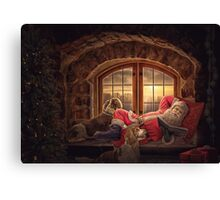 Story time with Santa version 1 (great for cards, prints etc) Canvas Print