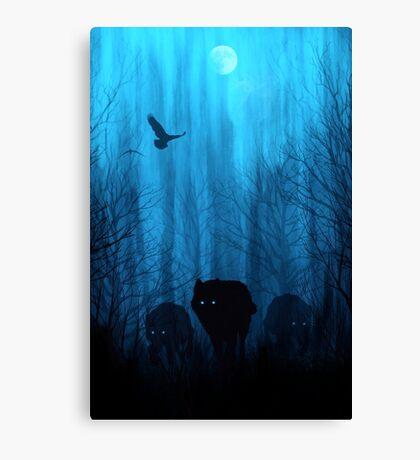 Wolf Pass: Blue Moon Zenith Canvas Print