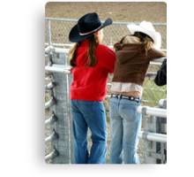 Cutest Young Cowgirls I Canvas Print